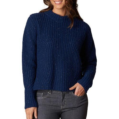 Womens prAna Cedric Sweater Long Sleeve Non-Technical Tops - Blue XS