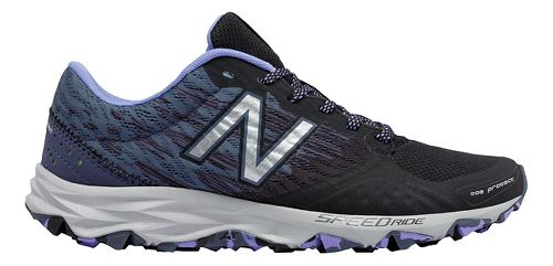 Womens New Balance T690v2 Trail Running Shoe - Black/Purple 9