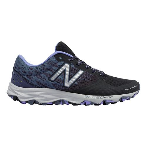 Womens New Balance T690v2 Trail Running Shoe - Black/Purple 6.5