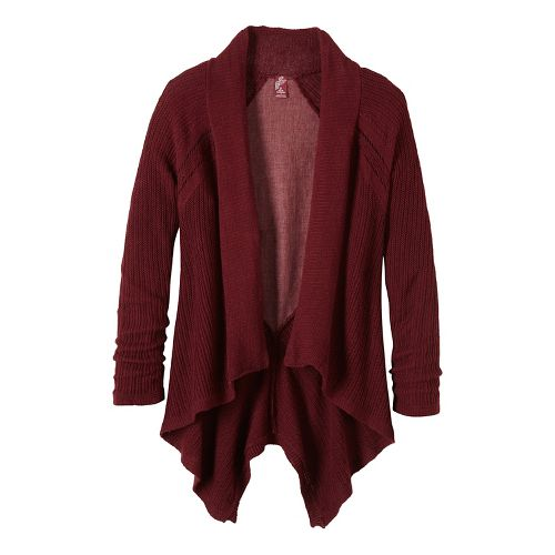 Diamond Sweater Cardi Long Sleeve Non-Technical Tops - Red XS