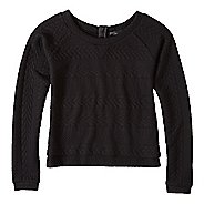 Womens prAna Dimension Crop Long Sleeve Non-Technical Tops