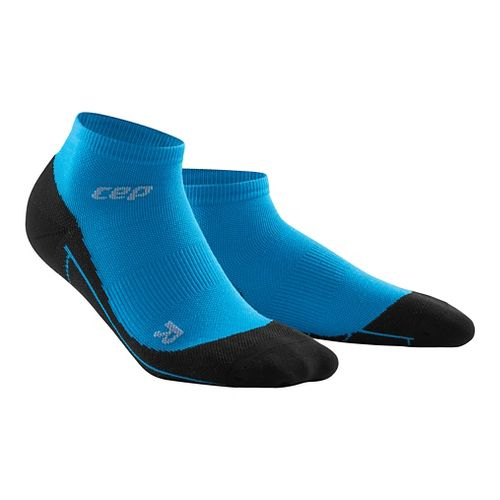 Mens CEP Dynamic+ Run Merino Low Cut Sock Injury Recovery - Electric Blue/Black M