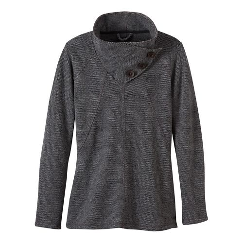 Womens prAna Ebba Sweater Cold Weather Jackets - Grey S