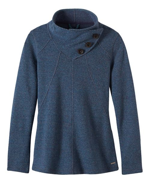 Womens prAna Ebba Sweater Cold Weather Jackets - Grey/Grey XL