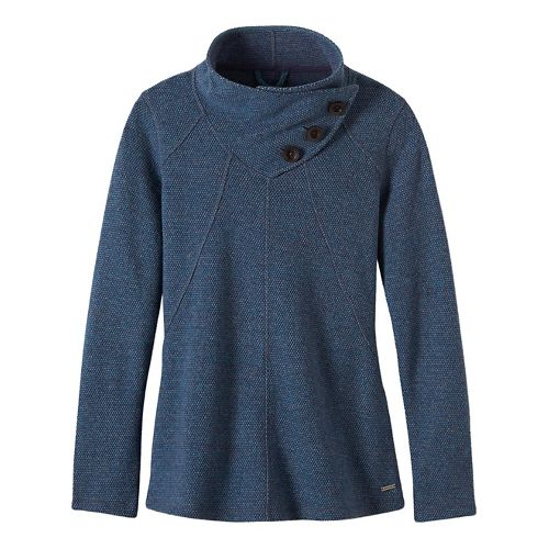 Womens prAna Ebba Sweater Cold Weather Jackets - Grey/Grey XS