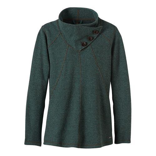 Womens prAna Ebba Sweater Cold Weather Jackets - Green XS