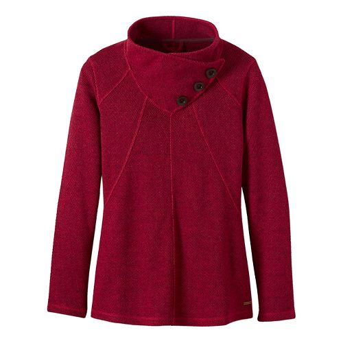 Womens prAna Ebba Sweater Cold Weather Jackets - Red L