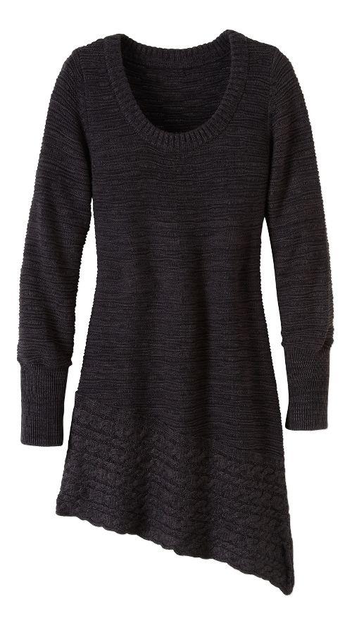 Womens prAna Felicia Tunic Long Sleeve Non-Technical Tops - Grey XL