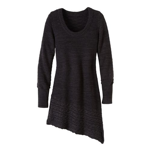 Womens prAna Felicia Tunic Long Sleeve Non-Technical Tops - Grey L