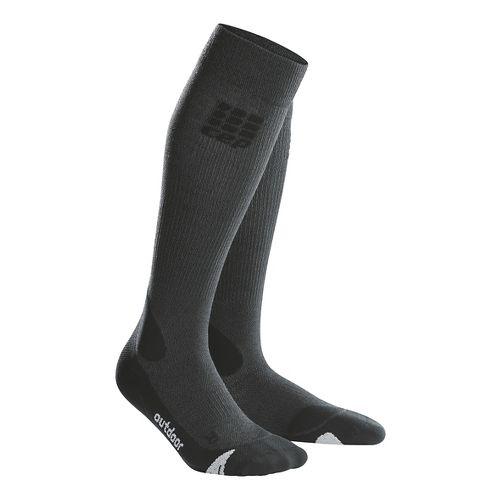 Mens CEP Progressive+ Outdoor Merino Sock Injury Recovery - Grey/Black M