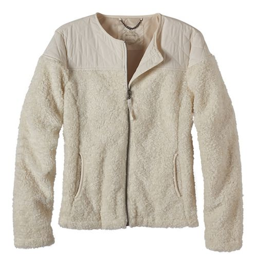Womens prAna Good Lux Cold Weather Jackets - White S