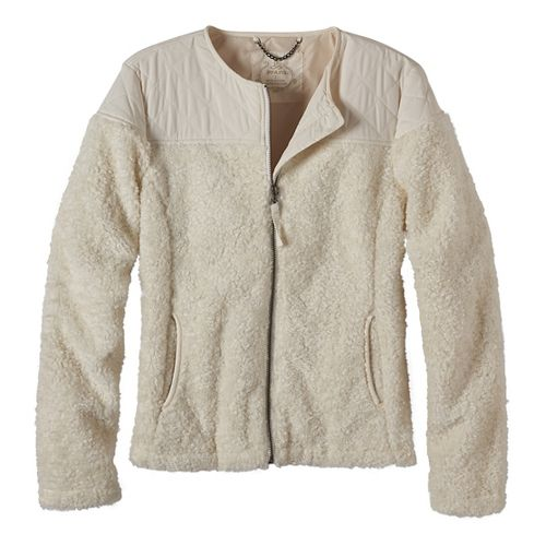 Womens prAna Good Lux Cold Weather Jackets - White L