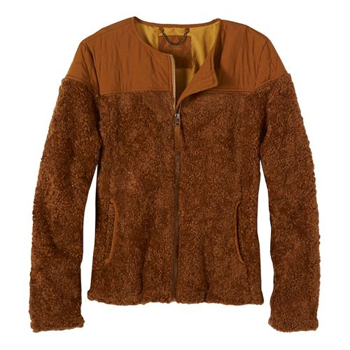 Womens prAna Good Lux Cold Weather Jackets - Brown S
