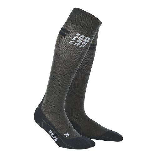 Mens CEP Progressive+ Run Merino Sock Injury Recovery - Anthracite/Black XL