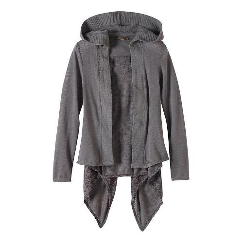 Womens prAna Hilo Duster Long Sleeve Non-Technical Tops - Grey XL