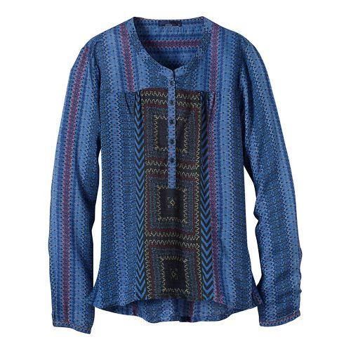 Womens prAna Inka Technical Tops - Blue XL
