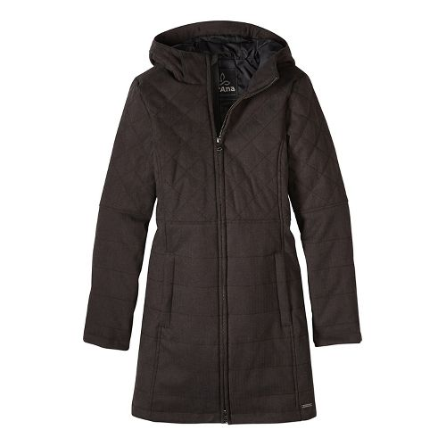 Womens prAna Inna Cold Weather Jackets - Black S