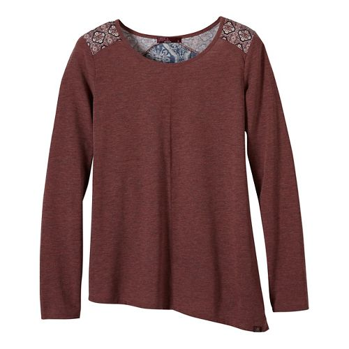 Womens prAna Jivani Non-Technical Tops - Brown XS