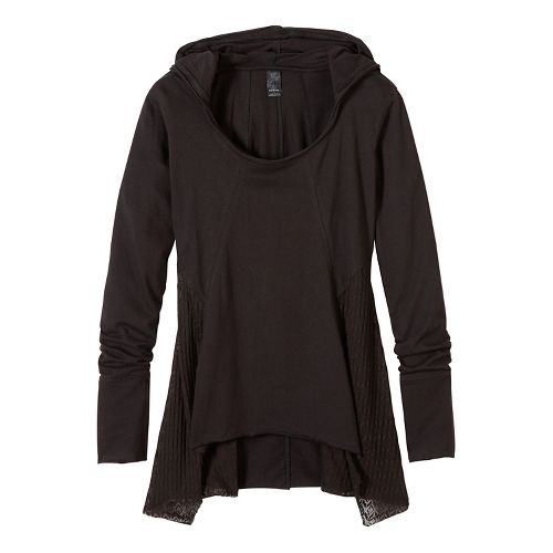 Womens prAna Lauriel Half-Zips & Hoodies Non-Technical Tops - Black S