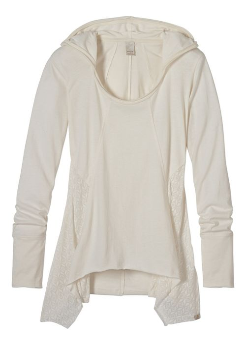 Womens prAna Lauriel Half-Zips & Hoodies Non-Technical Tops - White XS