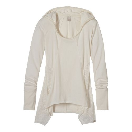 Womens prAna Lauriel Half-Zips & Hoodies Non-Technical Tops - White XS