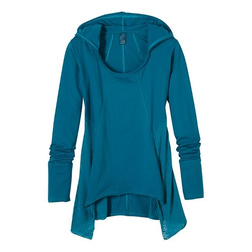 Womens prAna Lauriel Half-Zips & Hoodies Non-Technical Tops - Green M