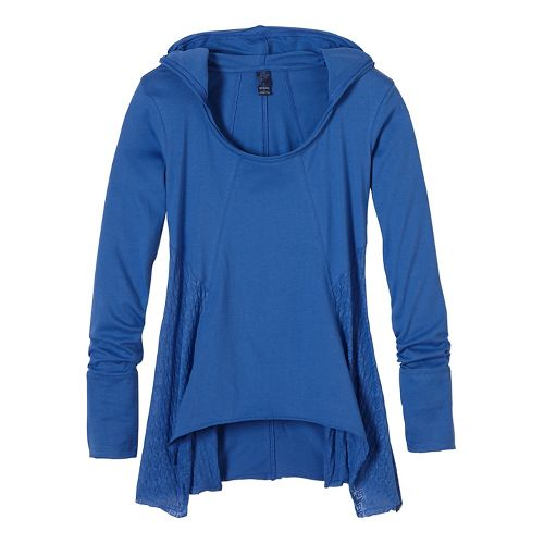 Womens prAna Lauriel Half-Zips & Hoodies Non-Technical Tops - Blue S