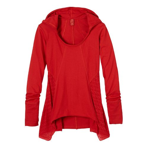 Womens prAna Lauriel Half-Zips & Hoodies Non-Technical Tops - Red XL