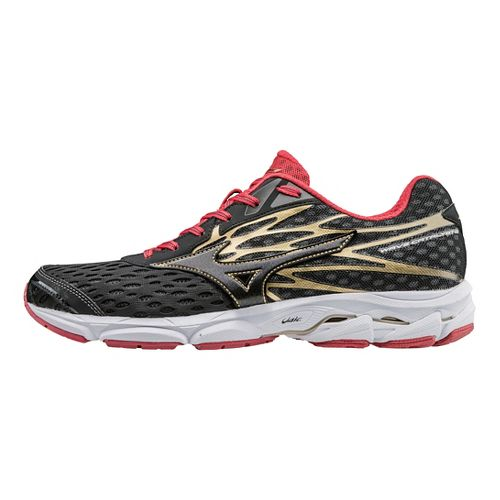 Mens Mizuno Wave Catalyst 2 Running Shoe - Black/Chinese Red 10.5