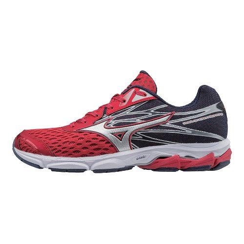 Mens Mizuno Wave Catalyst 2 Running Shoe - Red/Silver 10.5