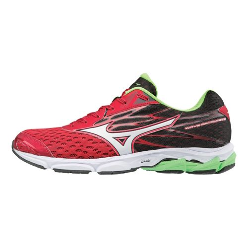 Mens Mizuno Wave Catalyst 2 Running Shoe - Red/Silver 11