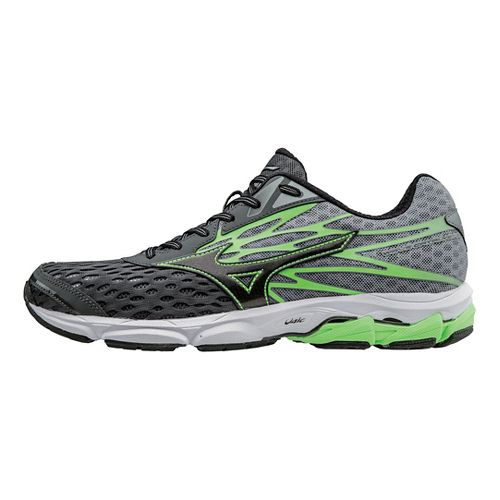 Mens Mizuno Wave Catalyst 2 Running Shoe - Dark Shadow/Green 8