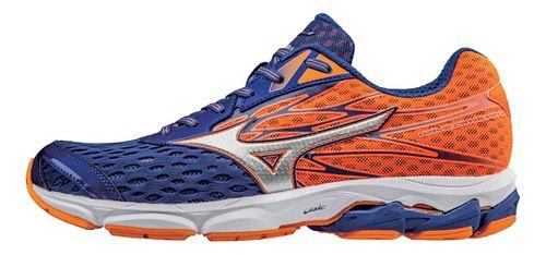 Mens Mizuno Wave Catalyst 2 Running Shoe - Mazarin Blue/Orange 10.5