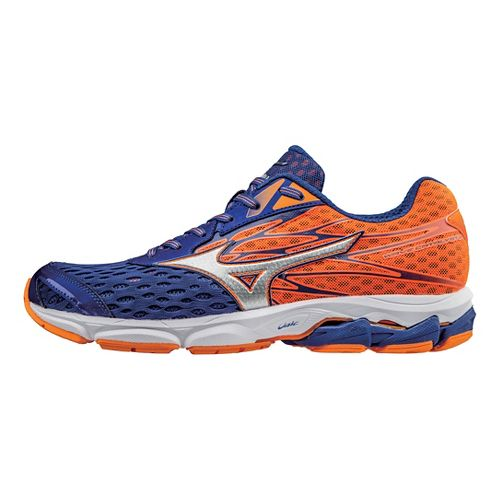 Mens Mizuno Wave Catalyst 2 Running Shoe - Mazarin Blue/Orange 11.5