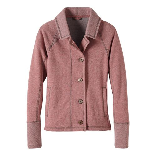 Womens prAna Lucia Casual Jackets - Pink XL