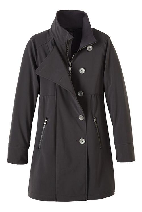 Womens prAna Martina Long Cold Weather Jackets - Grey L