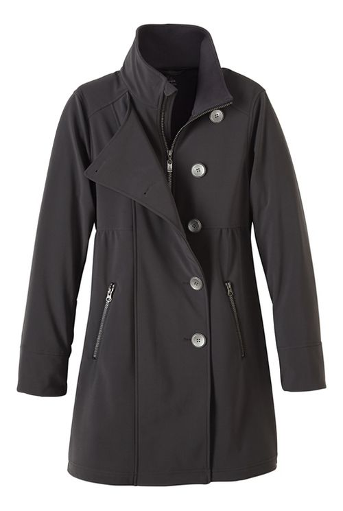 Womens prAna Martina Long Cold Weather Jackets - Grey M