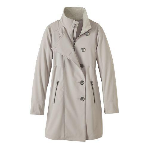 Womens prAna Martina Long Cold Weather Jackets - Beige M