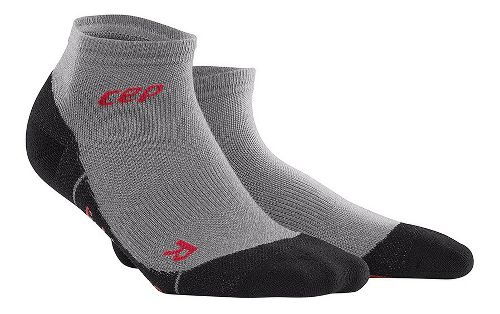 Womens CEP Dynamic+ Outdoor Light Merino Low-Cut Sock Injury Recovery - Volcanic Dust L