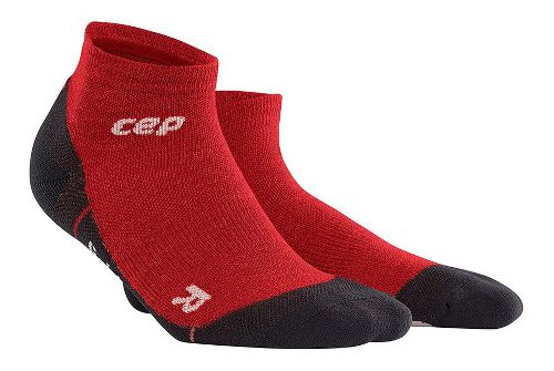 Womens CEP Dynamic+ Outdoor Light Merino Low-Cut Sock Injury Recovery - Deep Magma L