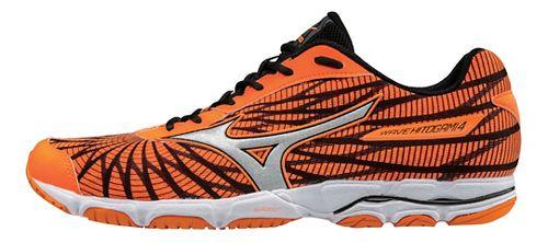 Mens Mizuno Wave Hitogami 4 Running Shoe - Orange/Black 9.5