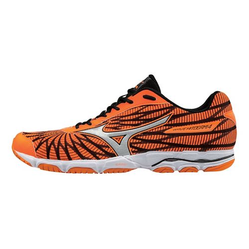 Mens Mizuno Wave Hitogami 4 Running Shoe - Orange/Black 12