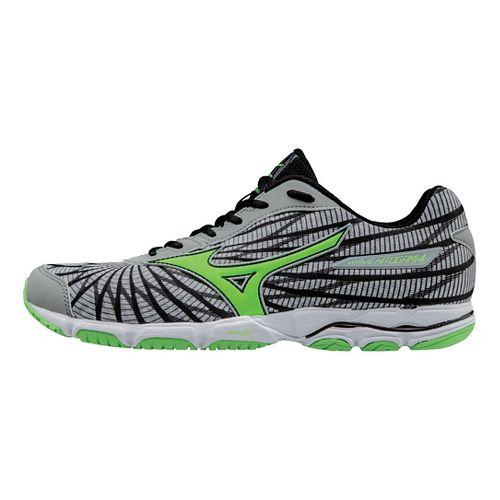 Mens Mizuno Wave Hitogami 4 Running Shoe - Grey/Green 11.5