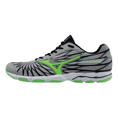 Mens Mizuno Wave Hitogami 4 Running Shoe - Grey/Green 9.5