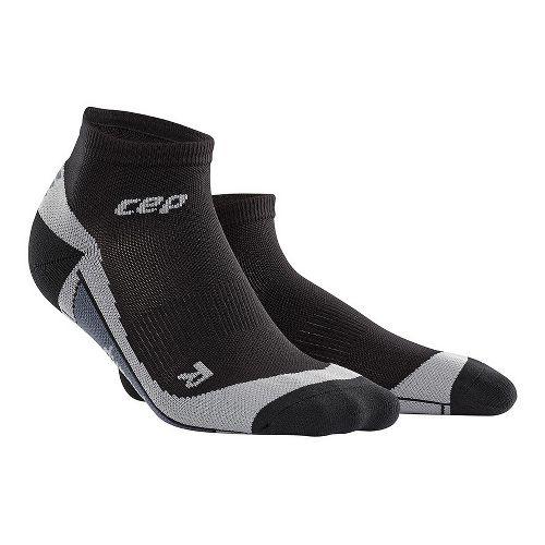 Womens CEP Dynamic+ Run Low-Cut Sock Injury Recovery - Black/Grey S