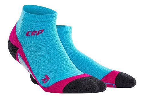 Womens CEP Dynamic+ Run Low-Cut Sock Injury Recovery - Hawaii Blue/Pink S