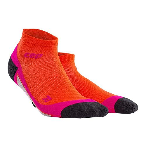 Womens CEP Dynamic+ Run Low-Cut Sock Injury Recovery - Sunset/Pink L