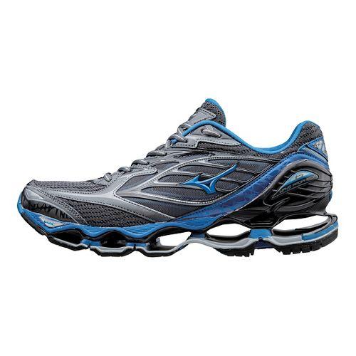 Mens Mizuno Wave Prophecy 6 Running Shoe - Grey/Blue 11