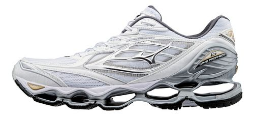 Mens Mizuno Wave Prophecy 6 Running Shoe - White/Gold 8.5