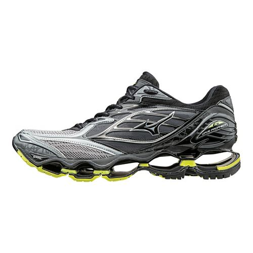 Mens Mizuno Wave Prophecy 6 Running Shoe - Black/Lime 10.5